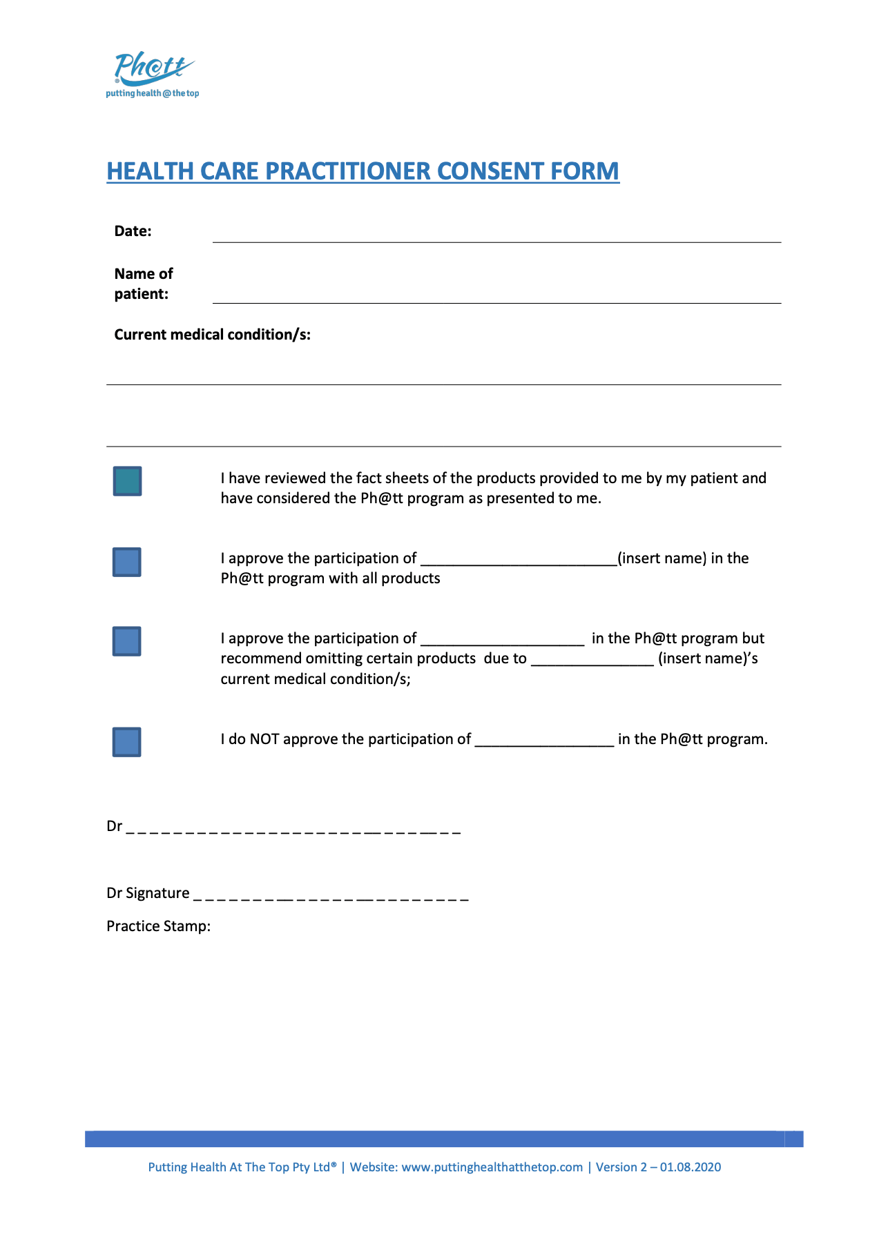 thumbnail of Healthcare Practitioner Consent form